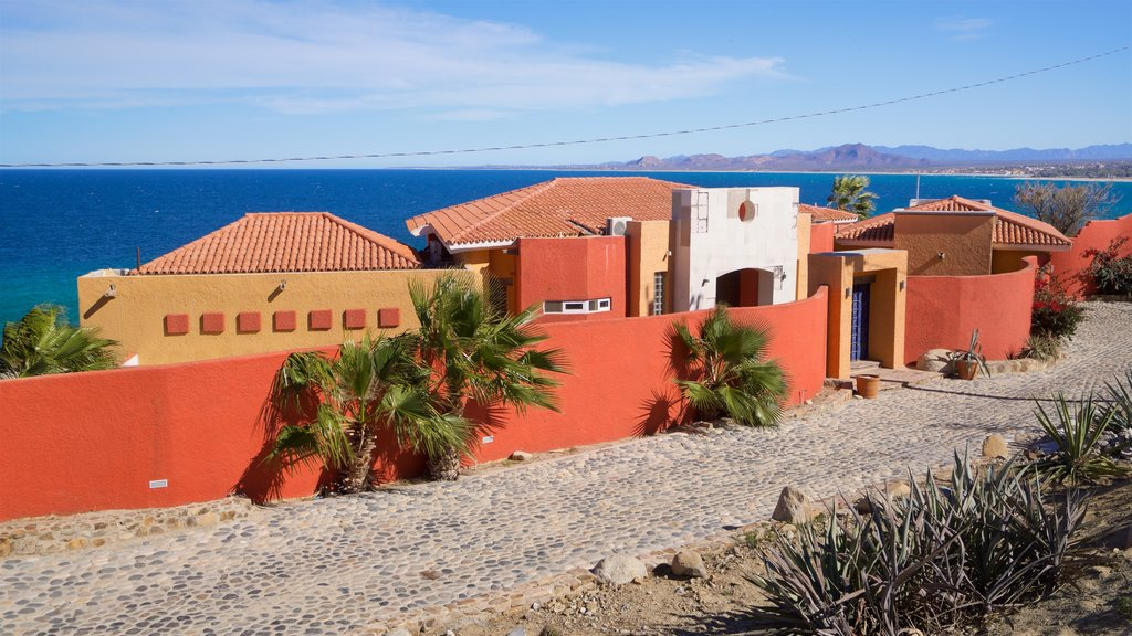 Los Barriles which includes a small town or village and general coastal views
