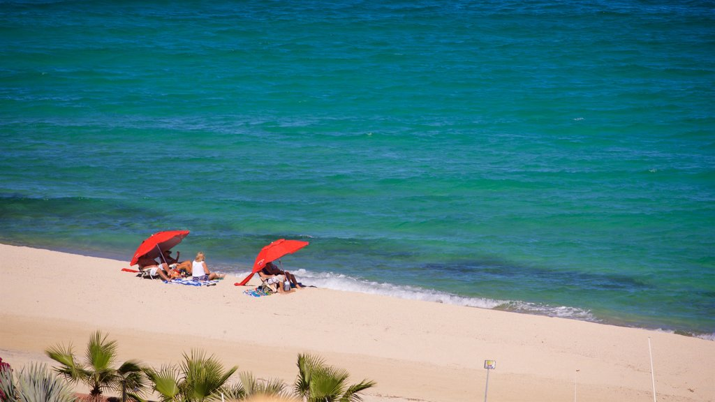 Los Barriles which includes a sandy beach and general coastal views as well as a family