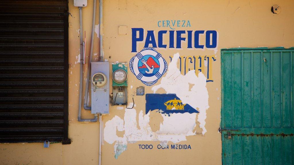 Santiago featuring signage