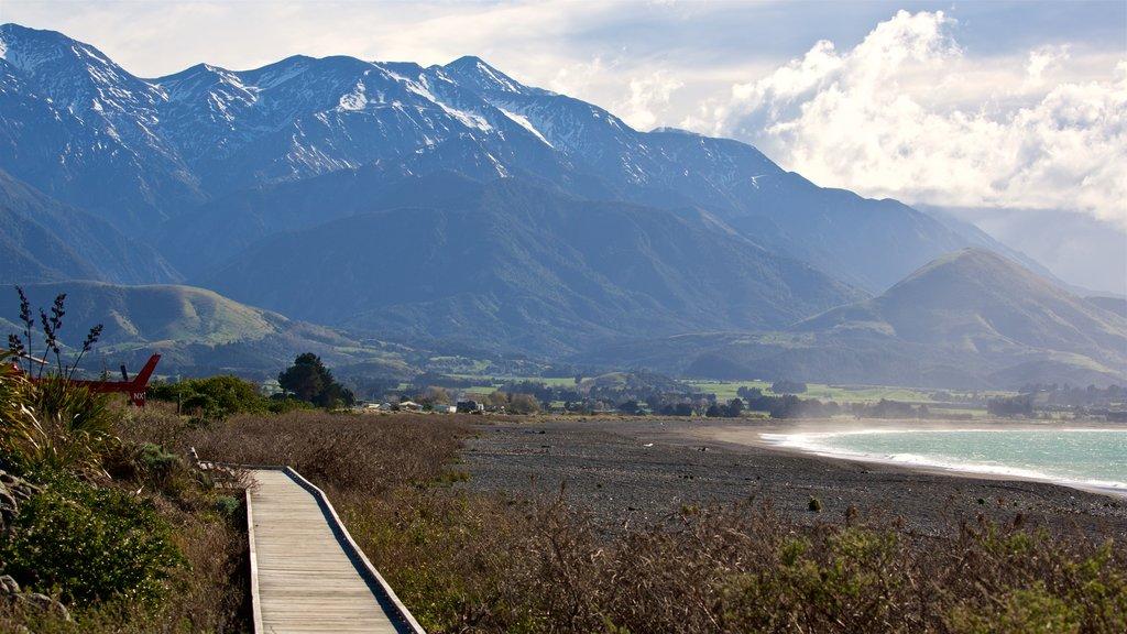 Kaikoura que incluye vistas de paisajes, montañas y escenas tranquilas