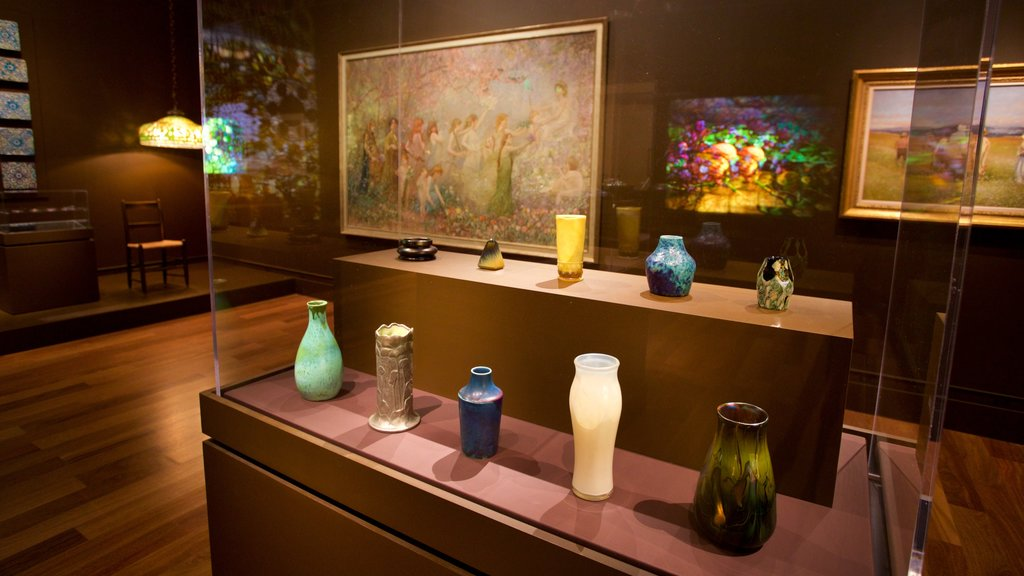 Morse Museum of American Art showing interior views and art