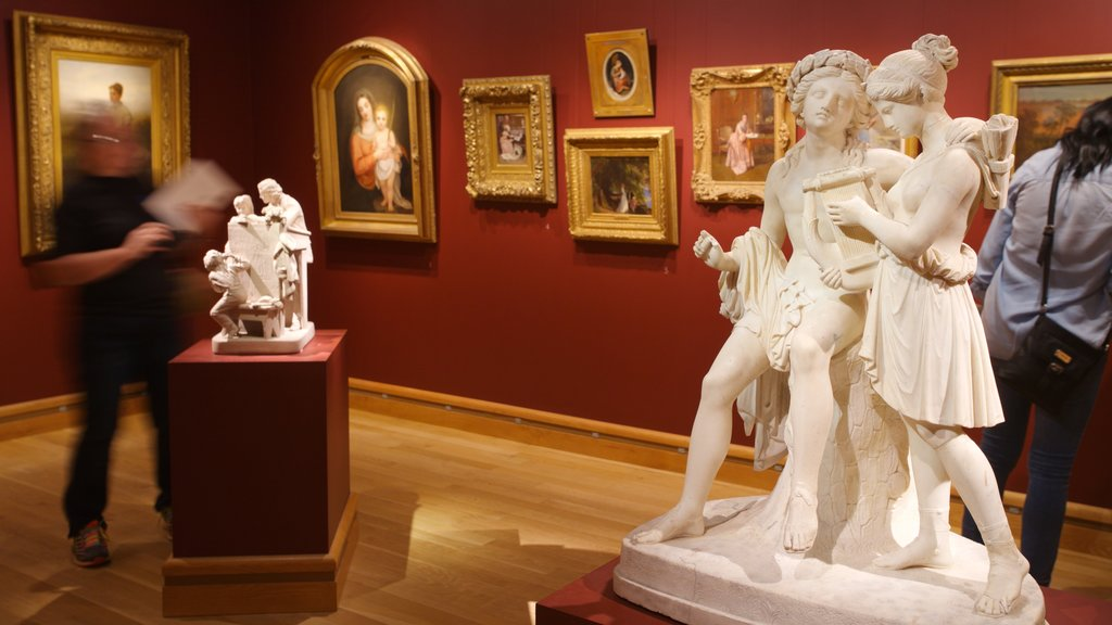 Morse Museum of American Art showing interior views, art and a statue or sculpture