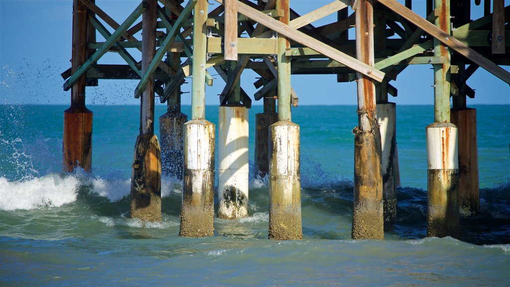 Cocoa Beach Pier featuring general coastal views