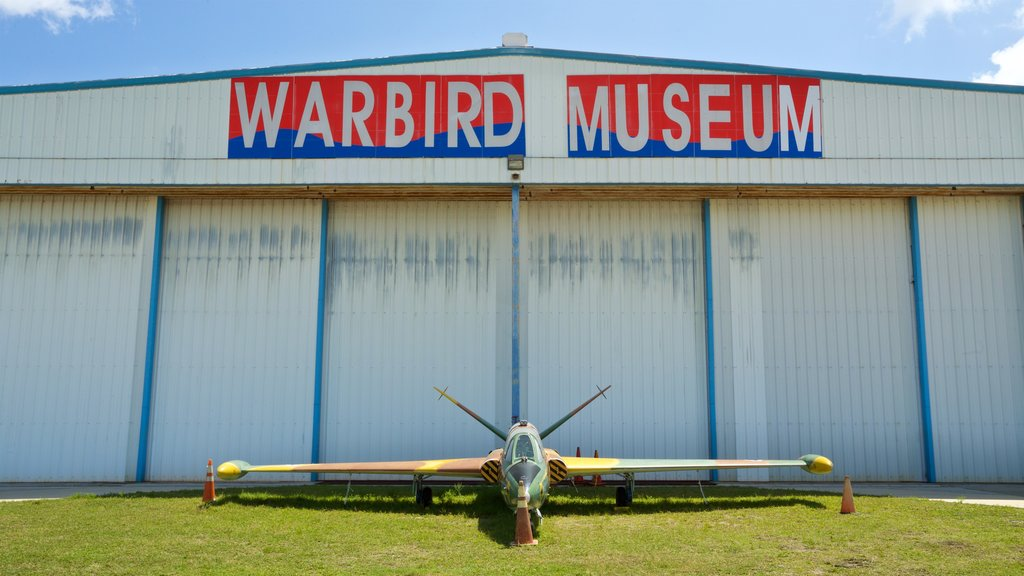 Valiant Air Command Warbird Museum featuring signage