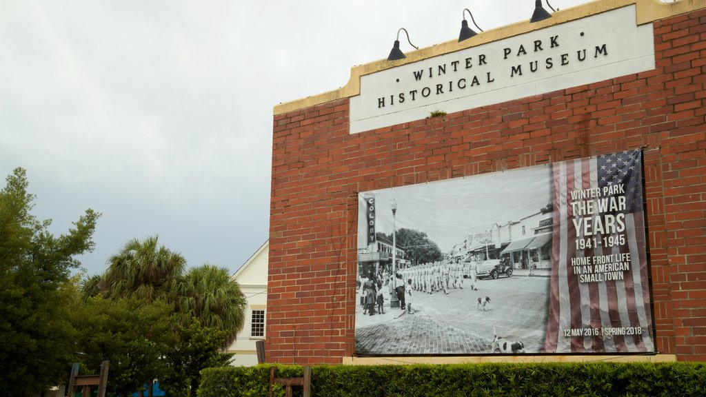 Winter Park Historical Museum showing signage