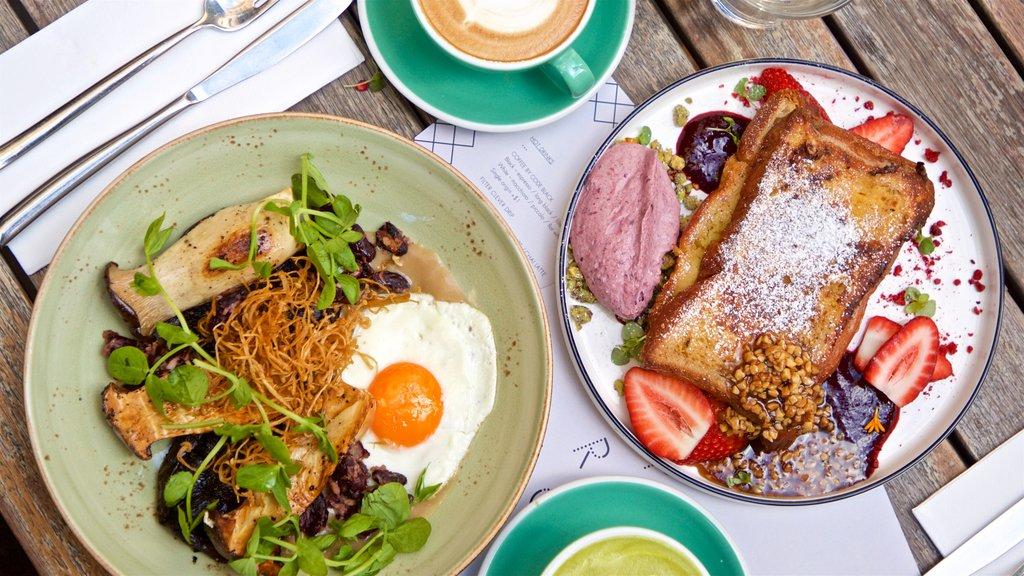 Docklands showing food