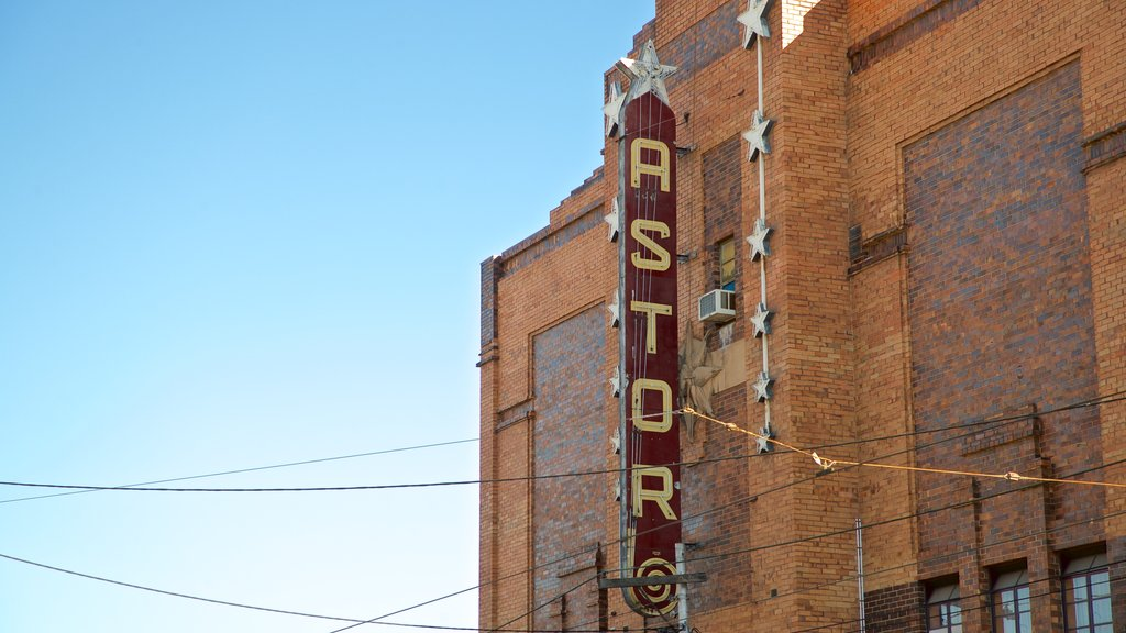 Astor Theatre which includes signage