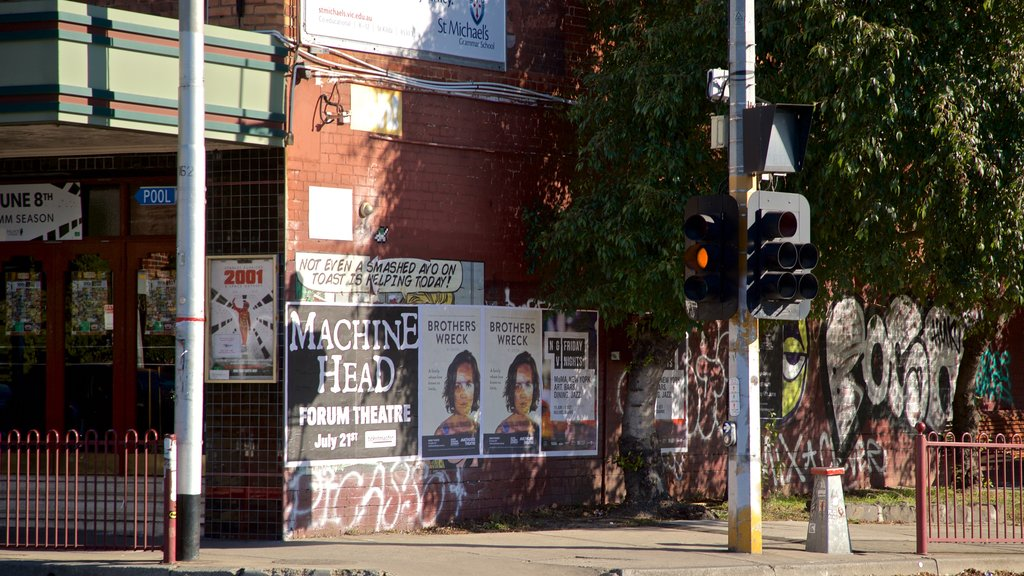 Astor Theatre which includes outdoor art
