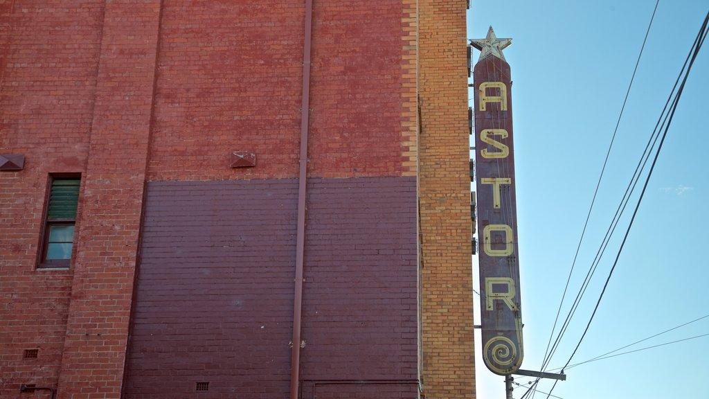 Astor Theatre featuring signage