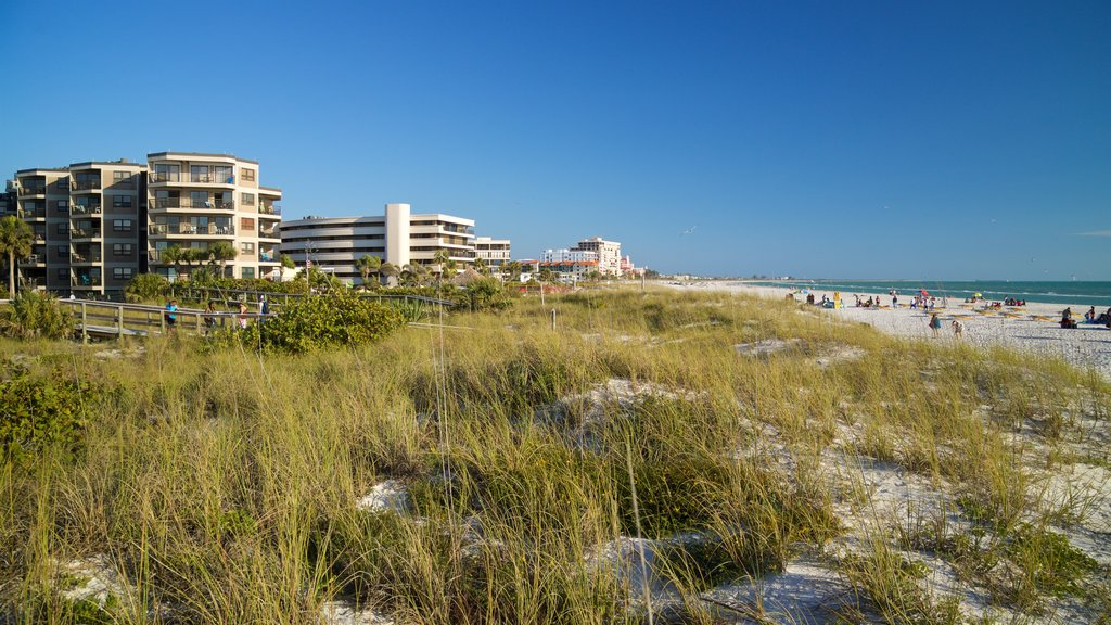 St. Pete Beach showing a beach, general coastal views and a coastal town