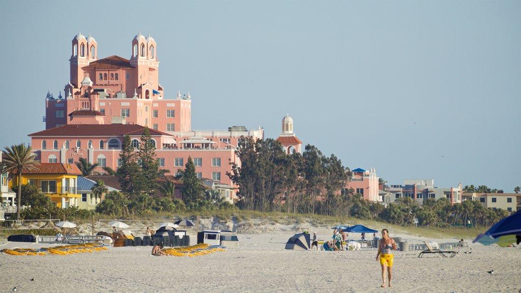 St. Pete Beach showing a beach, a coastal town and general coastal views