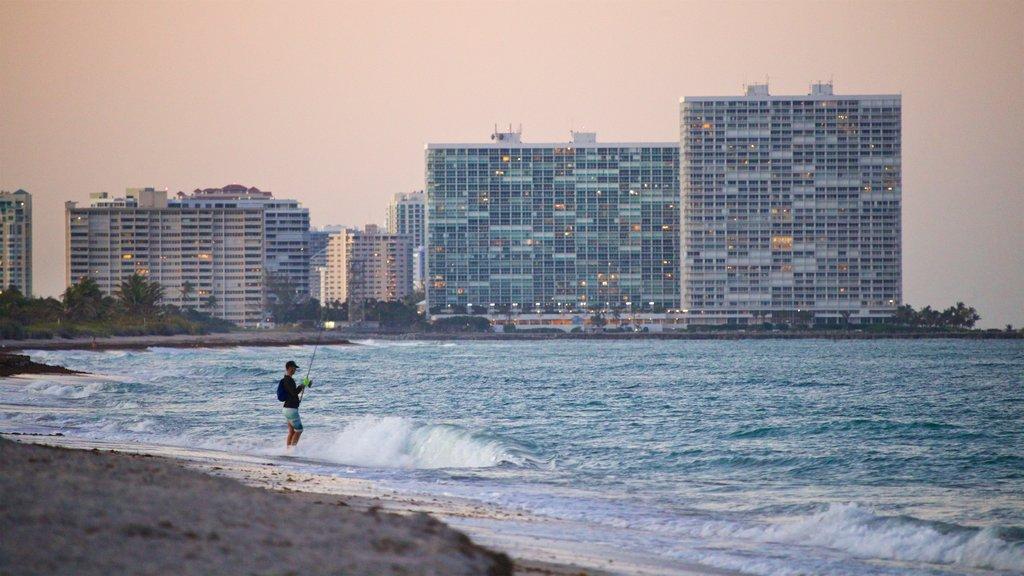 Dania Beach which includes general coastal views, fishing and a beach