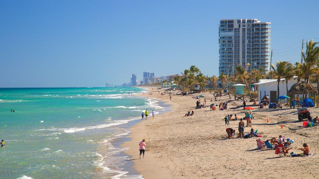 Dania Beach featuring a sandy beach and general coastal views