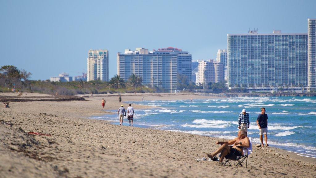 Dania Beach showing general coastal views, a coastal town and a sandy beach