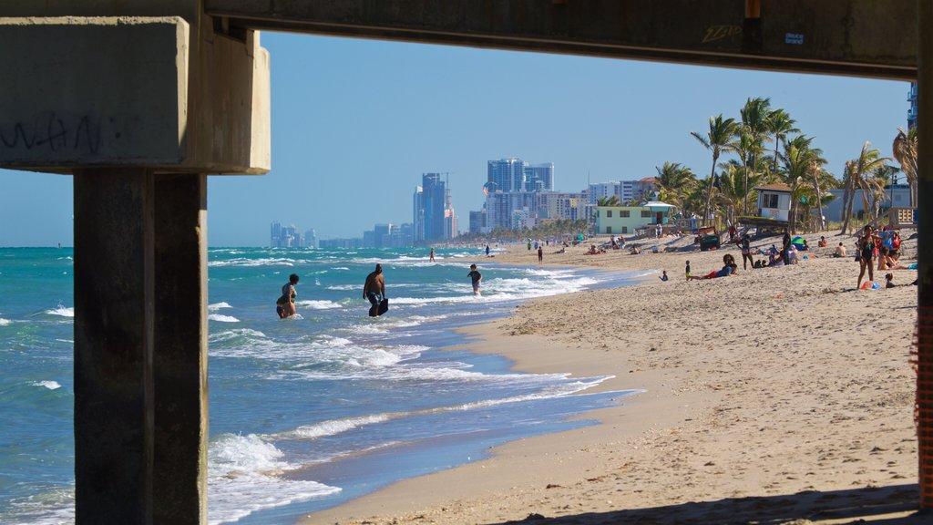 Dania Beach featuring a beach, a coastal town and general coastal views