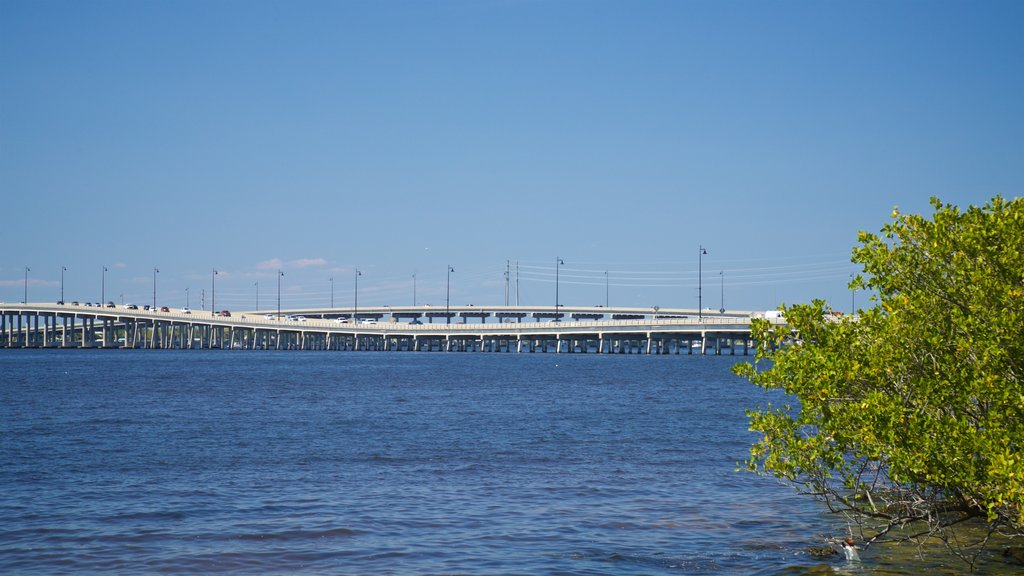 Punta Gorda showing a bridge and a river or creek