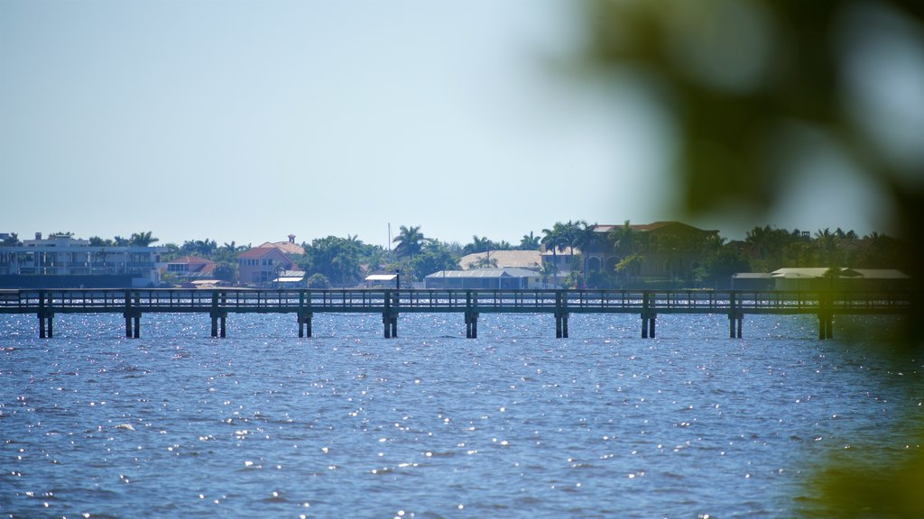 Port Charlotte showing a river or creek and a bridge