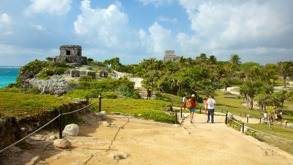 Riviera Maya which includes building ruins and hiking or walking