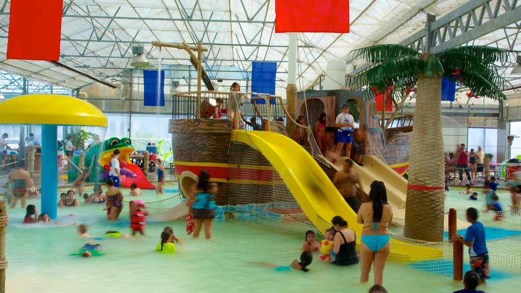 Galveston Schlitterbahn Waterpark which includes a waterpark, rides and interior views