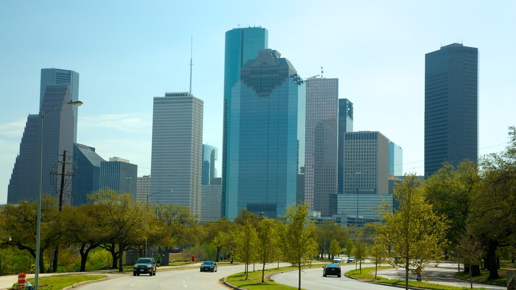 Houston featuring a city and a high rise building