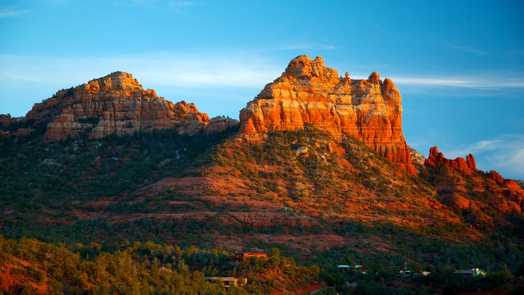 Sedona featuring a gorge or canyon, mountains and landscape views