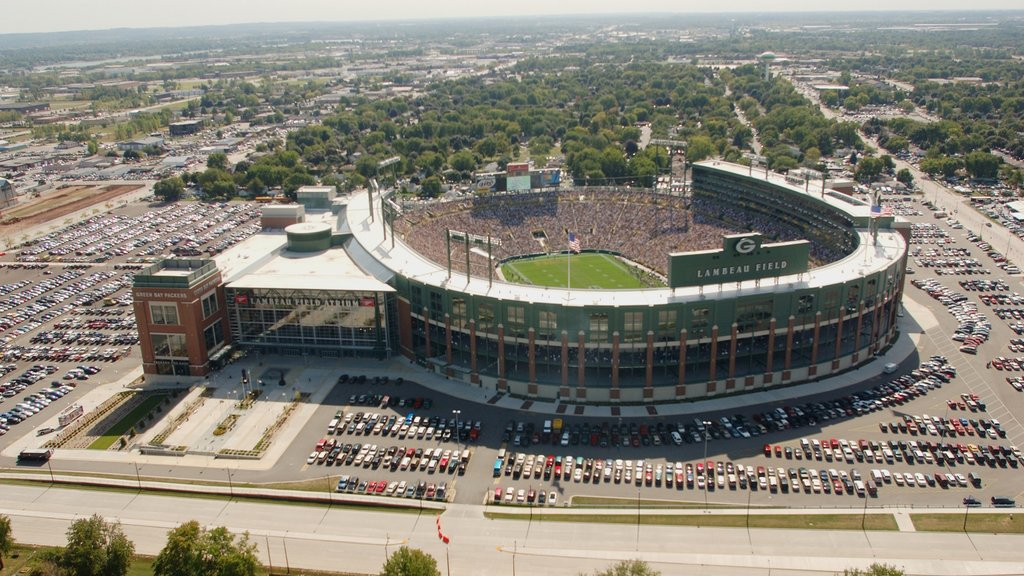 Green Bay featuring a city and a sporting event