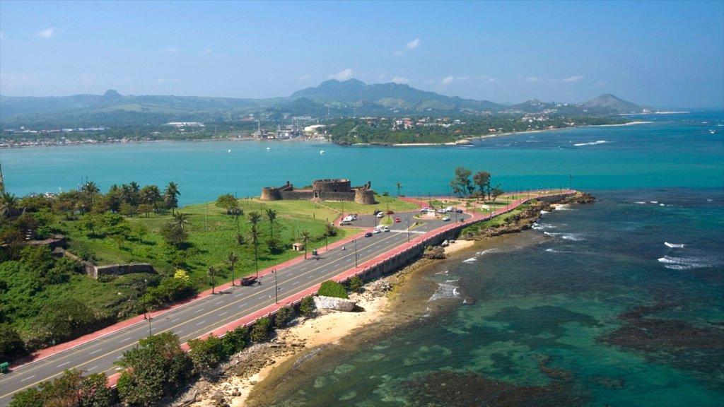Dominican Republic featuring a coastal town, rocky coastline and general coastal views