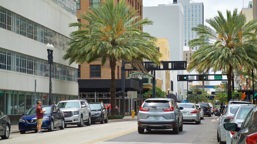 Downtown Miami Shopping District showing a city