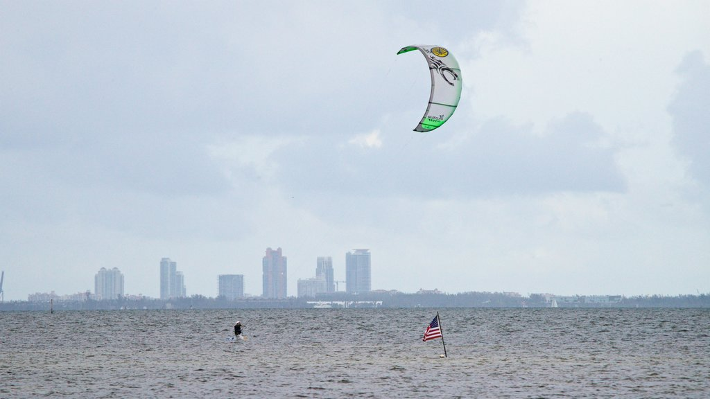 Miami featuring kite surfing and general coastal views