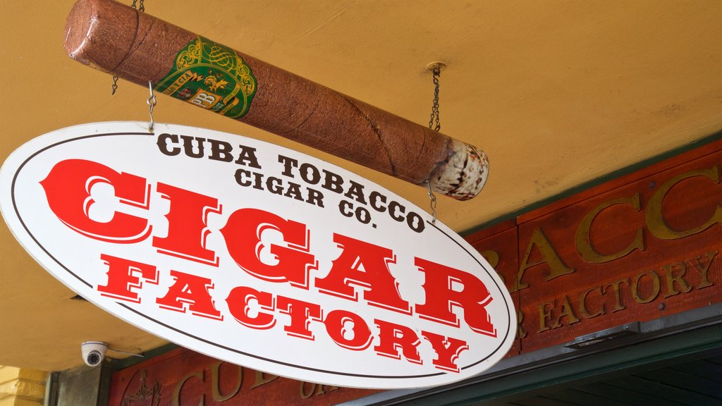 Cuba Tobacco Cigar Co featuring signage