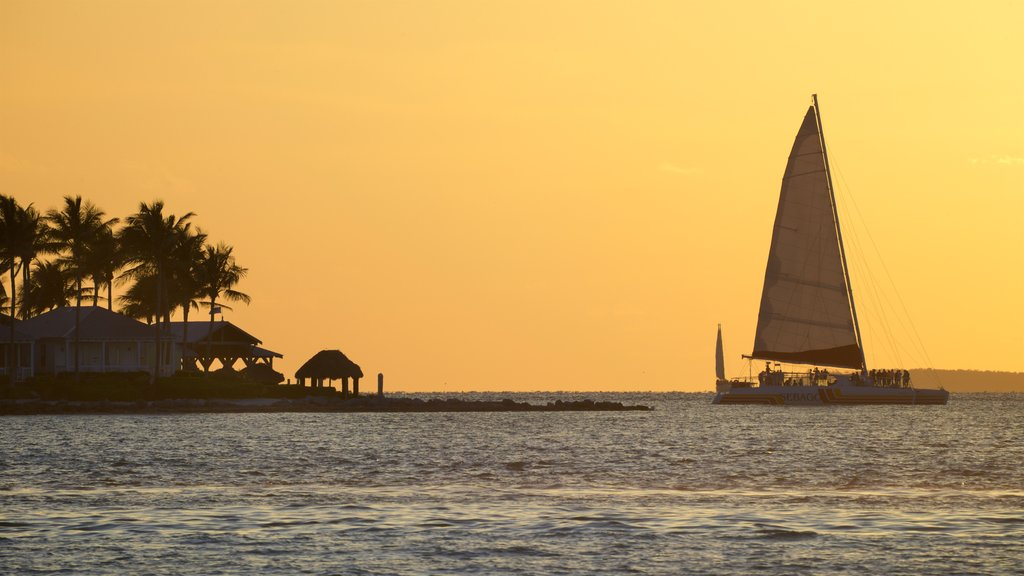 Key West featuring a sunset, general coastal views and sailing