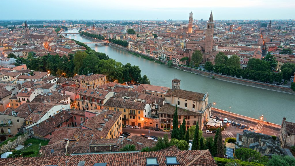 Verona showing landscape views, a city and a river or creek