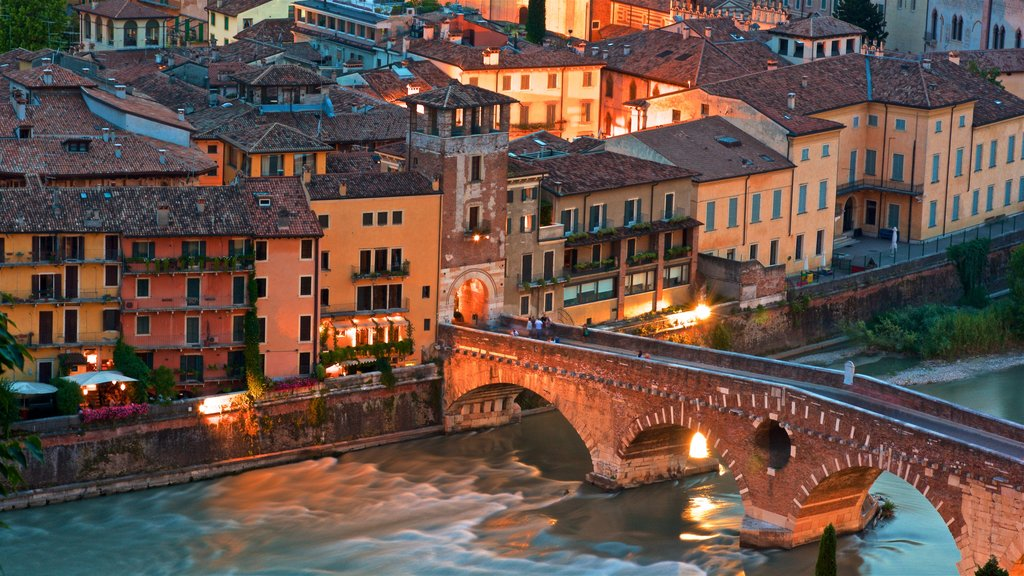 Verona featuring a bridge, a river or creek and landscape views