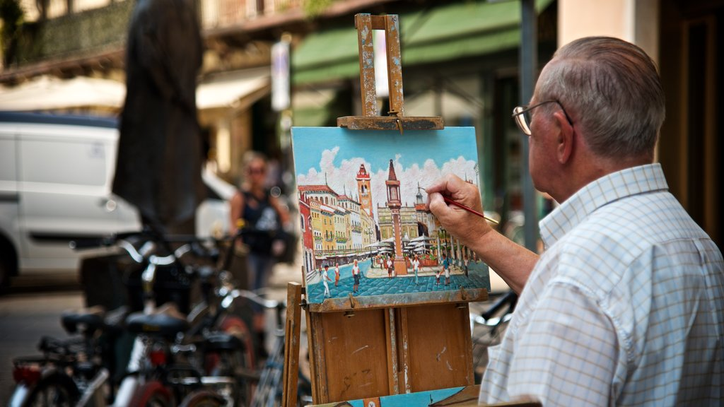 Verona featuring art as well as an individual male