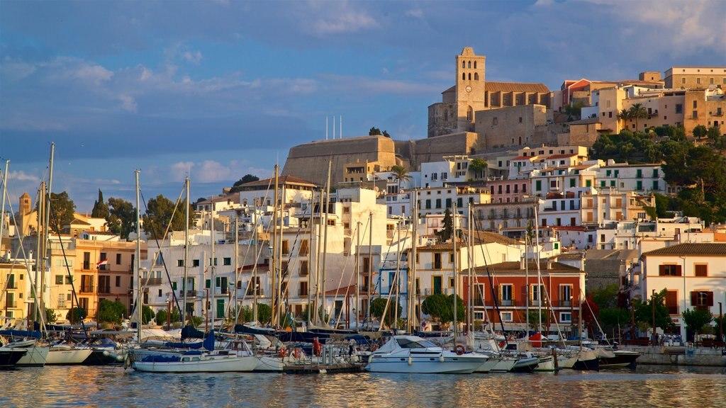 Ibiza City Centre showing a coastal town and a bay or harbor