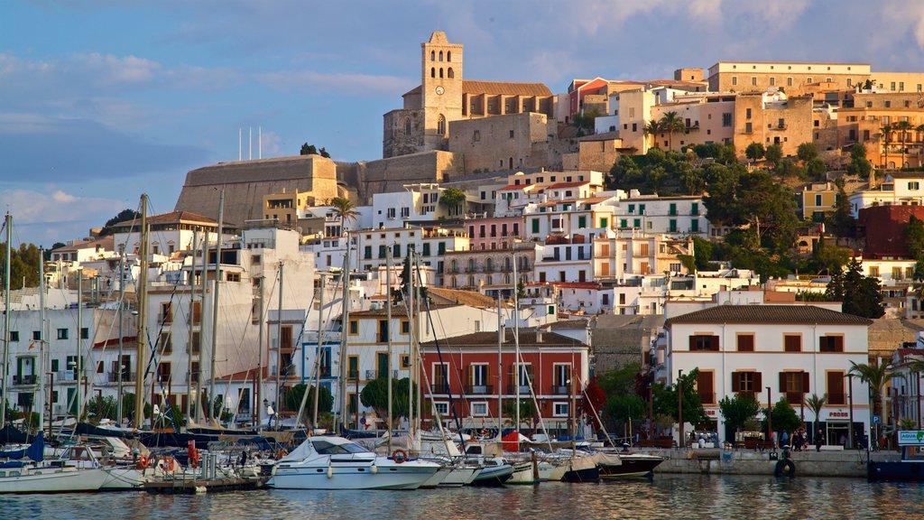Ibiza City Centre featuring a bay or harbor and a coastal town