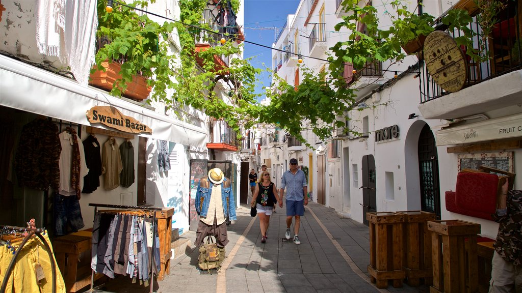 Ibiza City Centre featuring street scenes and markets as well as a couple