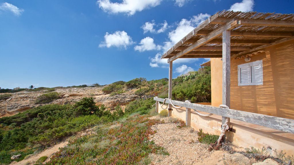 Cala en Baster showing a house and tranquil scenes