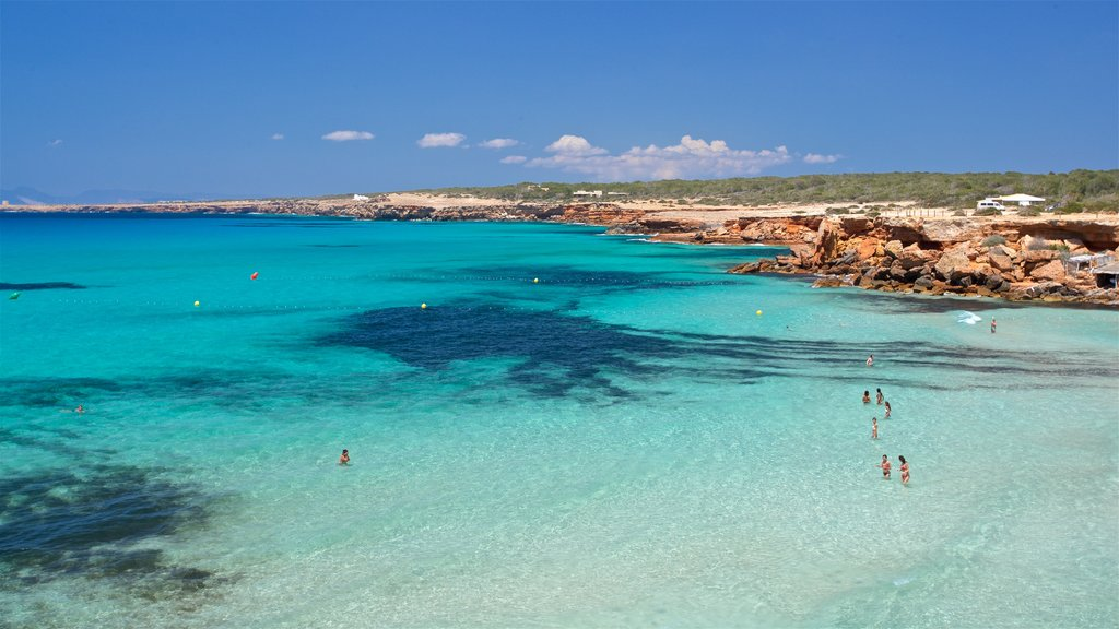 Formentera featuring rugged coastline and general coastal views