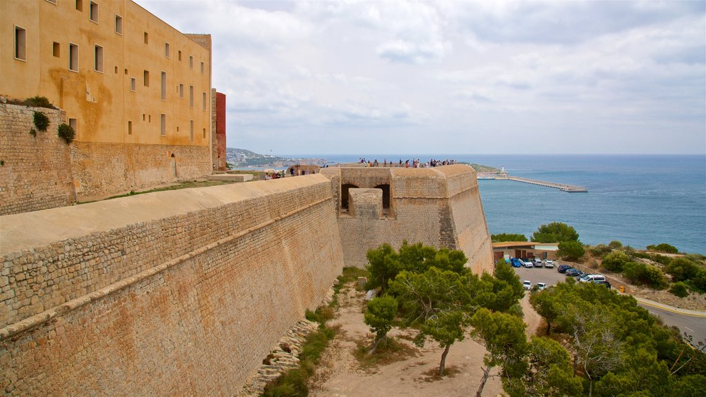 Dalt Vila which includes views, general coastal views and heritage elements
