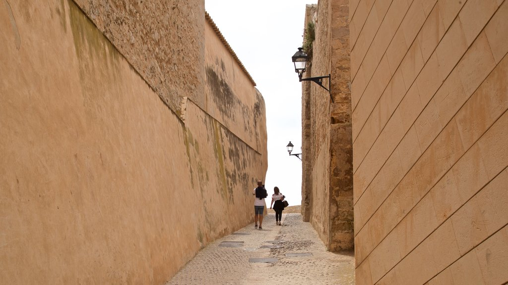 Dalt Vila which includes street scenes as well as a couple