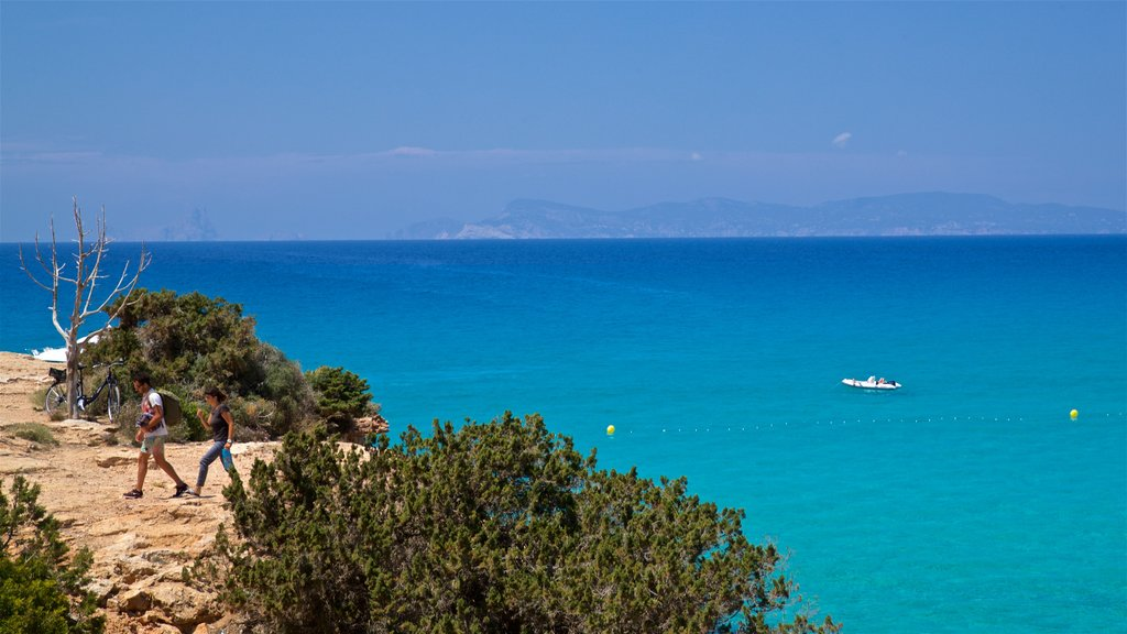 Formentera which includes rocky coastline and general coastal views as well as a couple