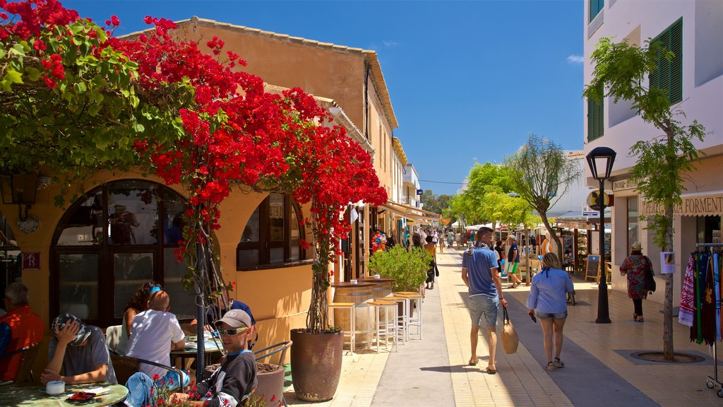 Sant Francesc Xavier showing flowers and outdoor eating