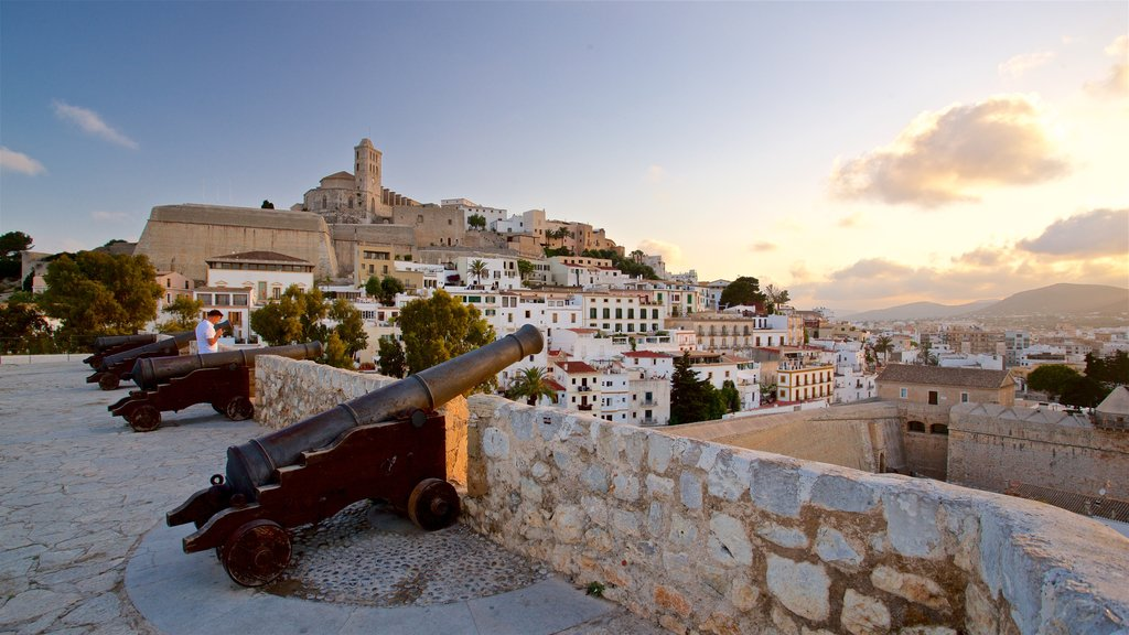 Ibiza Castle featuring military items, a sunset and heritage elements