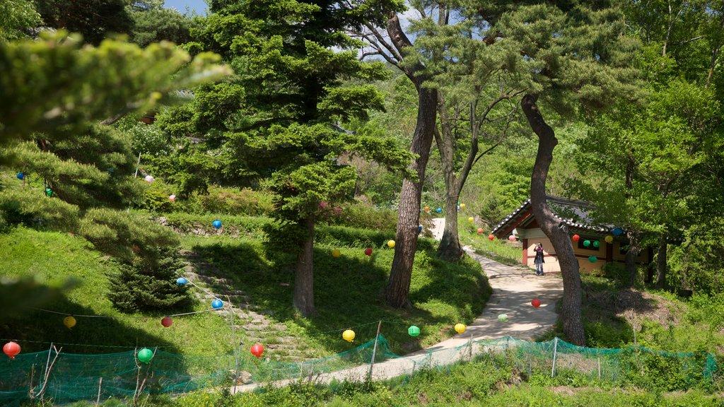 Bongjeongsa Temple featuring a garden