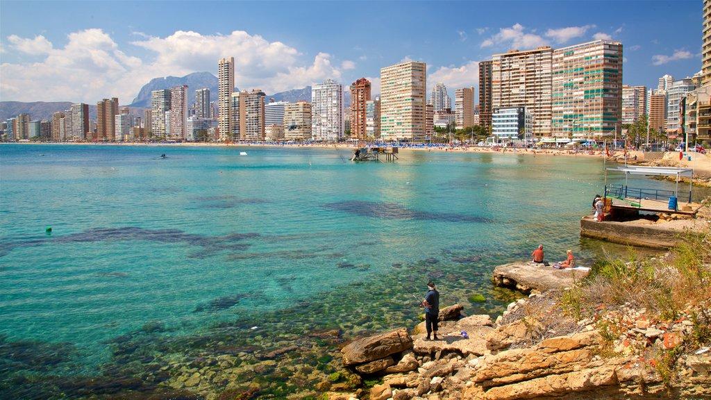 Levante Beach showing a city, a coastal town and general coastal views