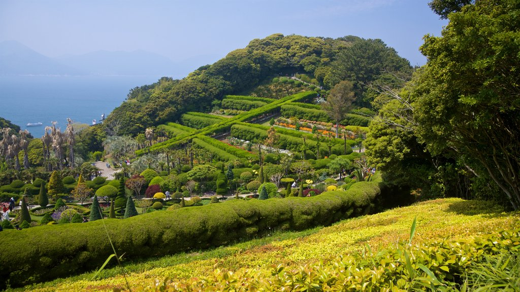 Geoje featuring landscape views, general coastal views and a garden