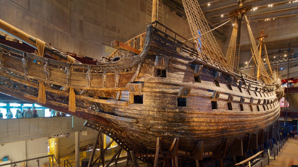 Vasa Museum showing heritage elements and interior views