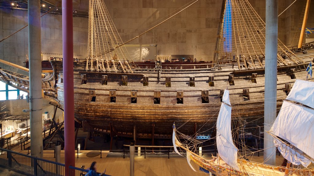 Vasa Museum featuring heritage elements and interior views