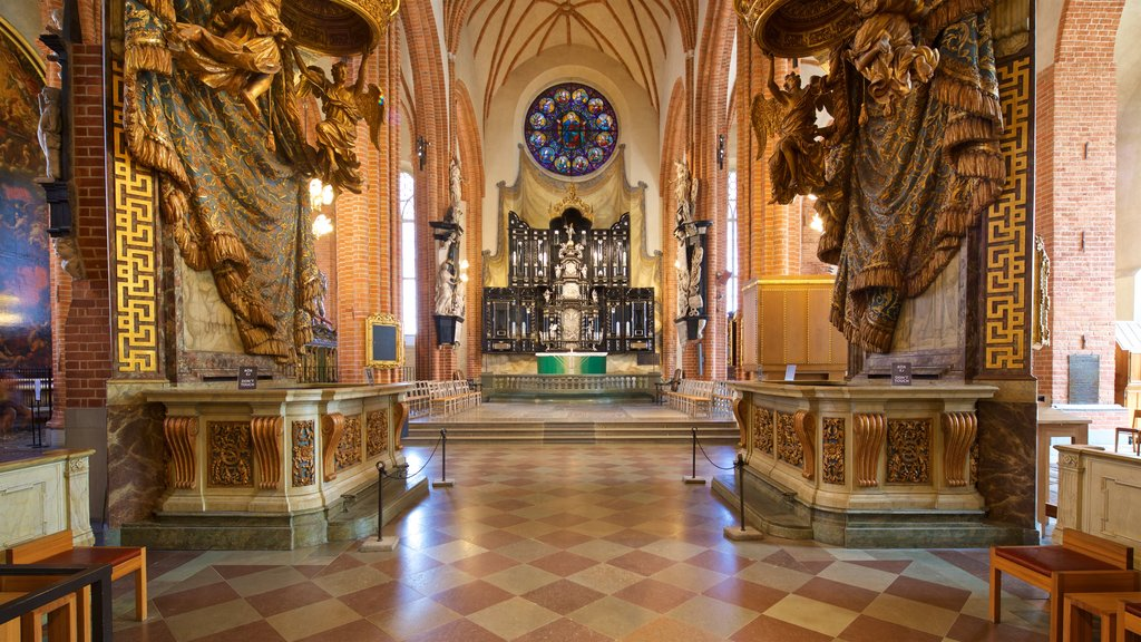 Stockholm Cathedral showing heritage elements, a church or cathedral and interior views